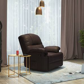Cooper Rocker Recliner (Chocolate Brown, Leatherette Material) by Urban Ladder - - 114740