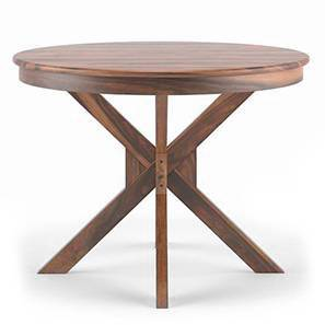 Liana 4 Seater Round Dining Table (Teak Finish) by Urban Ladder - Design 1 - 115066