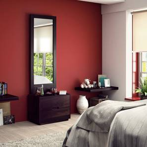 Zephyr Dresser With Mirror (Mahogany Finish) by Urban Ladder - Design 1 Half View - 125689
