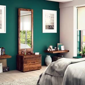 Zephyr Dresser With Mirror (Teak Finish) by Urban Ladder - Design 1 Half View - 125700