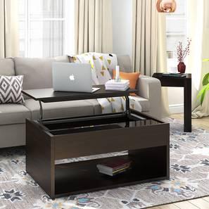 Alita Laptop Coffee Table (Dark Oak Finish) by Urban Ladder - Design 1 - 138152