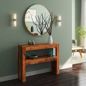 Epsilon Console Table (Teak Finish) by Urban Ladder - Design 1 Full View - 143567