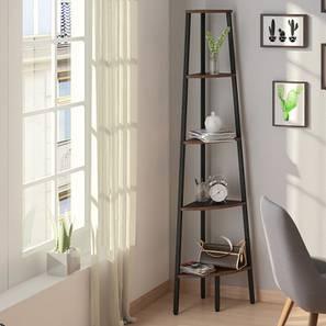 Wallace Corner Bookshelf/Display Unit (Wenge Finish) by Urban Ladder - Design 1 - 147101