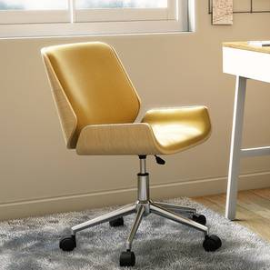 Abigail Study Chair (Yellow) by Urban Ladder - Full View - 156888