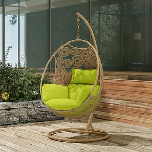 Kyodo Swing Chair With Stand (Green) by Urban Ladder - Design 1 Full View - 159739