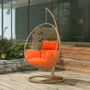 Kyodo Swing Chair With Stand (Orange) by Urban Ladder - Design 1 Full View - 159749