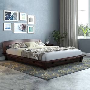 Tahiti Platform Bed (Mahogany Finish, Queen Bed Size) by Urban Ladder - Design 1 Full View - 161340