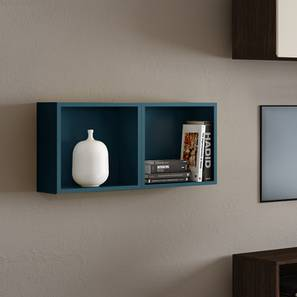 Henson Floating Shelf - Set Of 2 (Blue Accent Colour) by Urban Ladder