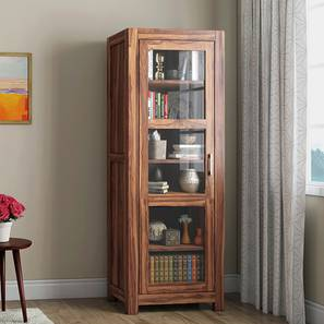 Murano Bookshelf/Display Cabinet (55-book capacity) (Teak Finish) by Urban Ladder - Design 1 Full View - 161508