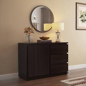 Vector Wide Sideboard (Mahogany Finish) by Urban Ladder - Front View Design 1 - 162543