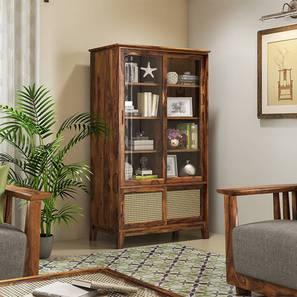Fujiwara Bookshelf/Display Cabinet (75-book capacity) (Teak Finish) by Urban Ladder - Front View Design 1 - 162458