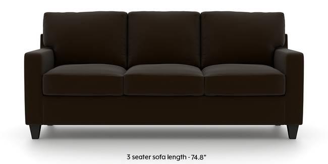 Walton Leatherette Sofa (Chocolate) (Chocolate, Leatherette Sofa Material, Regular Sofa Size, Regular Sofa Type)