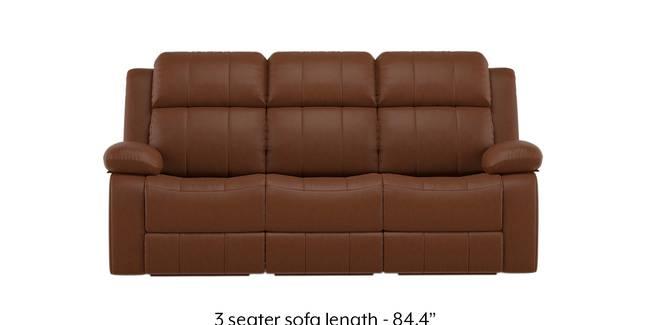 Robert Recliner Sofa Set (Tan Brown Leatherette) (1-seater Custom Set - Sofas, None Standard Set - Sofas, Leatherette Sofa Material, Regular Sofa Size, Regular Sofa Type, Tan Leatherette)