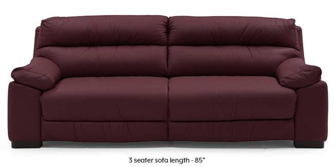 Thiene Sofa (Wine Italian Leather) (Regular Sofa Size, Regular Sofa Type, Leather Sofa Material, Wine)