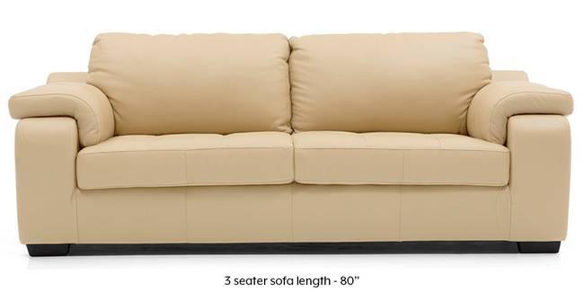 Trissino Sofa (Cream Italian Leather) (Cream, Regular Sofa Size, Regular Sofa Type, Leather Sofa Material)