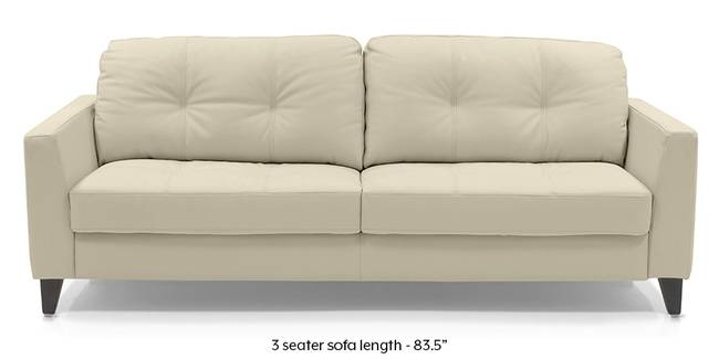 Franco Sofa (Cream Italian Leather) (Cream, Regular Sofa Size, Regular Sofa Type, Leather Sofa Material)