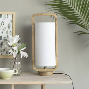 Odessa Table Lamp (Natural Base Finish) by Urban Ladder - Front View Design 1 - 176211