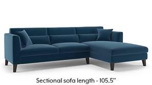 Lewis Sectional Sofa (Cobalt)