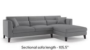 Lewis Sectional Sofa (Smoke)