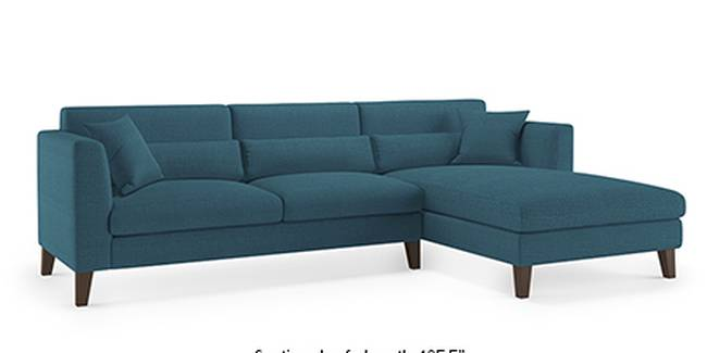 Lewis Sofa (Fabric Sofa Material, Regular Sofa Size, Soft Cushion Type, Sectional Sofa Type, Sectional Master Sofa Component, Colonial Blue)