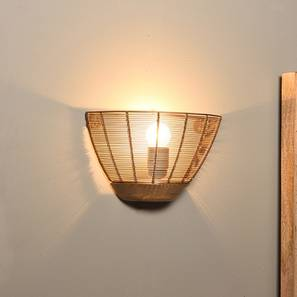 Tupelo Wall Lamp (Gold Shade Finish) by Urban Ladder - Design 1 Full View - 185423