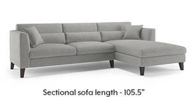 Lewis Sofa (Fabric Sofa Material, Regular Sofa Size, Soft Cushion Type, Sectional Sofa Type, Sectional Master Sofa Component, Vapour Grey)