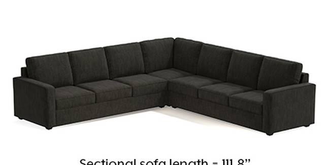Apollo Sofa Set (Fabric Sofa Material, Regular Sofa Size, Soft Cushion Type, Corner Sofa Type, Corner Master Sofa Component, Graphite Grey, Regular Back Type, Regular Back Height)