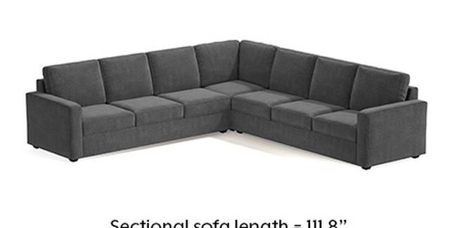 Apollo Sofa Set (Smoke, Fabric Sofa Material, Regular Sofa Size, Soft Cushion Type, Corner Sofa Type, Corner Master Sofa Component, Regular Back Type, Regular Back Height)