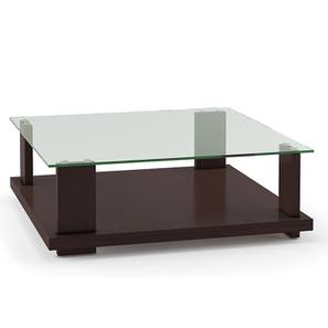 Colbert Glass Top Coffee Table (Dark Walnut Finish) by Urban Ladder - Picture Design 1 - 194498
