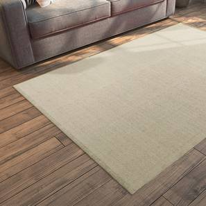 "Solway Dhurrie (Beige, 122 x 183 cm  (48"" x 72"") Carpet Size) by Urban Ladder - Cross View Design 1 - 198721"