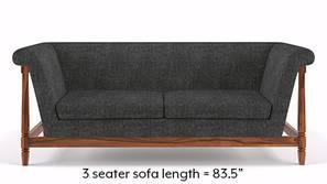 Malabar Wooden Sofa (Smoke Grey)