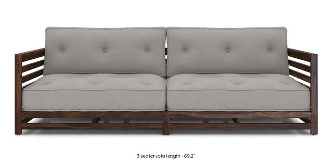 Idaho Low Wooden Sofa (Grey) (Grey, Grey, 1-seater Custom Set - Sofas, 2-seater Custom Set - Sofas, None Standard Set - Sofas, None Standard Set - Sofas, Fabric Sofa Material, Fabric Sofa Material, Regular Sofa Size, Regular Sofa Size, Soft Cushion Type, Soft Cushion Type, Regular Sofa Type, Regular Sofa Type)