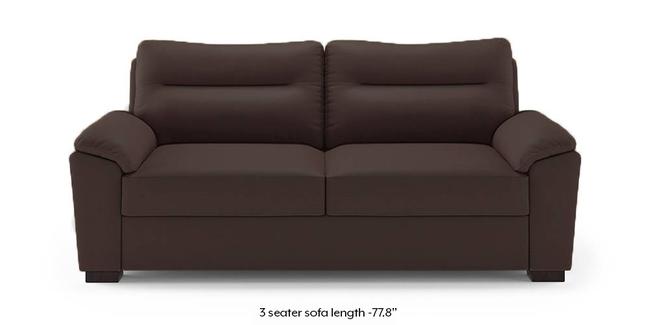 Adelaide Compact Leatherette Sofa (Chocolate) (Chocolate, 3-seater Custom Set - Sofas, None Standard Set - Sofas, Leatherette Sofa Material, Compact Sofa Size, Soft Cushion Type, Regular Sofa Type)