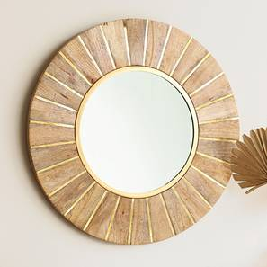 Garda Wall Mirror (Natural Finish) by Urban Ladder - Design 1 Full View - 207010