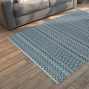 "Rivoli Dhurrie (Blue, 91 x 152 cm  (36"" x 60"") Carpet Size) by Urban Ladder - Design 1 Full View - 210049"