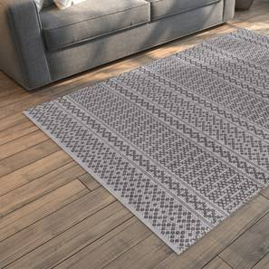 "Rivoli Dhurrie (Grey, 91 x 152 cm  (36"" x 60"") Carpet Size) by Urban Ladder - Design 1 Full View - 210061"