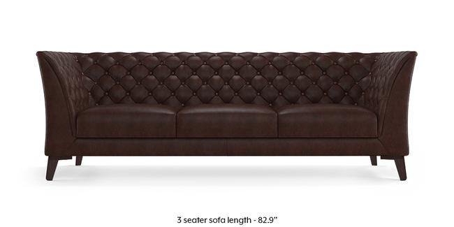 Weston Half Leather Sofa (Chocolate Italian Leather) (Chocolate, 1-seater Custom Set - Sofas, None Standard Set - Sofas, Regular Sofa Size, Regular Sofa Type, Leather Sofa Material)