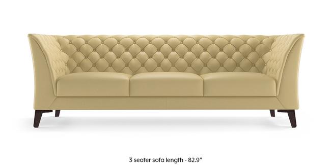 Weston Half Leather Sofa (Cream Italian Leather) (Cream, Cream, 1-seater Custom Set - Sofas, 2-seater Custom Set - Sofas, None Standard Set - Sofas, None Standard Set - Sofas, Regular Sofa Size, Regular Sofa Size, Regular Sofa Type, Regular Sofa Type, Leather Sofa Material, Leather Sofa Material)