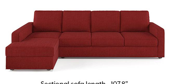 Apollo Sofa Set (Fabric Sofa Material, Regular Sofa Size, Soft Cushion Type, Sectional Sofa Type, Sectional Master Sofa Component, Salsa Red, Regular Back Type, Regular Back Height)
