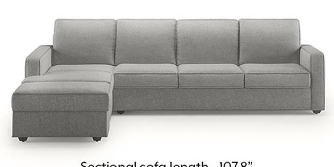 Apollo Sofa Set (Fabric Sofa Material, Regular Sofa Size, Soft Cushion Type, Sectional Sofa Type, Sectional Master Sofa Component, Vapour Grey, Regular Back Type, Regular Back Height)