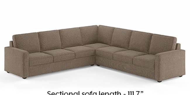 Apollo Sofa Set (Mist, Fabric Sofa Material, Regular Sofa Size, Soft Cushion Type, Corner Sofa Type, Corner Master Sofa Component, Regular Back Type, Regular Back Height)