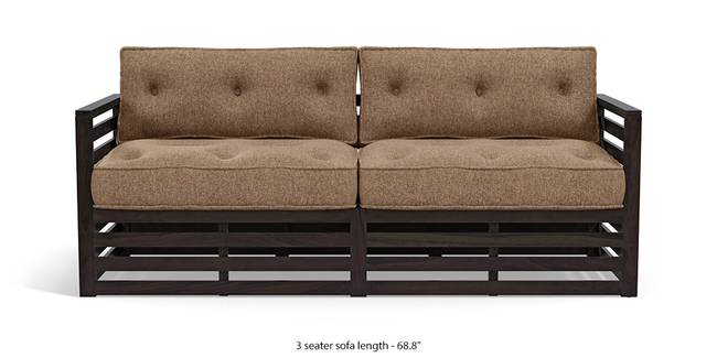 Raymond Wooden Sofa - American Walnut Finish (Safari Brown) (2-seater Custom Set - Sofas, 3-seater Custom Set - Sofas, None Standard Set - Sofas, None Standard Set - Sofas, American Walnut Finish, American Walnut Finish, Fabric Sofa Material, Fabric Sofa Material, Regular Sofa Size, Regular Sofa Size, Regular Sofa Type, Regular Sofa Type, Safari Brown, Safari Brown)