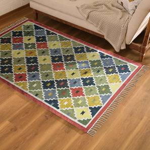"Kayseri Dhurrie (122 x 183 cm  (48"" x 72"") Carpet Size, Multi Colour) by Urban Ladder - Design 1 Full View - 220986"