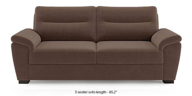 Adelaide Sofa (Daschund Brown) (3-seater Custom Set - Sofas, None Standard Set - Sofas, Fabric Sofa Material, Regular Sofa Size, Regular Sofa Type, Daschund Brown)
