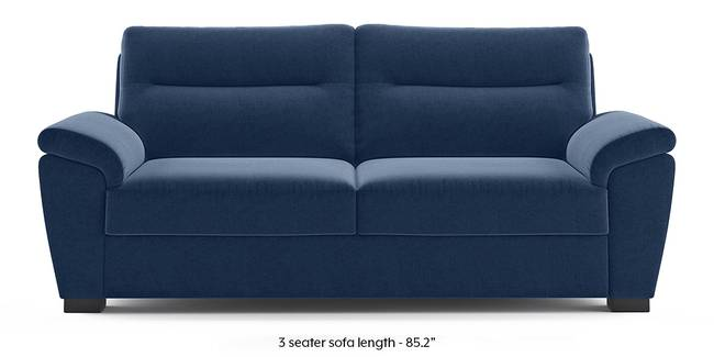 Adelaide Sofa (Lapis Blue) (1-seater Custom Set - Sofas, None Standard Set - Sofas, Fabric Sofa Material, Regular Sofa Size, Regular Sofa Type, Lapis Blue)