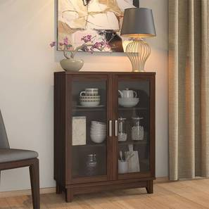 Alton Low Display Cabinet with 2 Doors (Walnut Finish) by Urban Ladder - Design 1 Full View - 230493