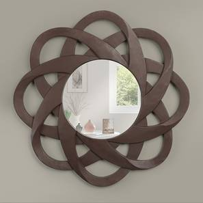 Habbe Wall Mirror (Matte Brown Finish) by Urban Ladder - Design 1 Full View - 232622