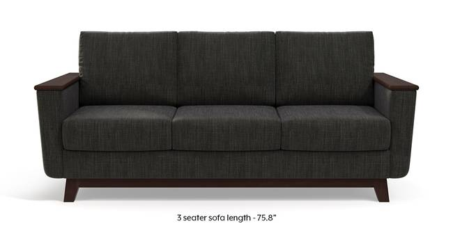 Corby Sofa (Graphite Grey) (3-seater Custom Set - Sofas, None Standard Set - Sofas, Fabric Sofa Material, Regular Sofa Size, Regular Sofa Type, Graphite Grey)