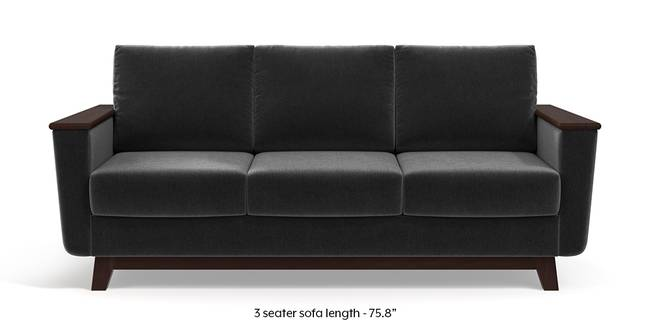 Corby Sofa (Pebble Grey) (3-seater Custom Set - Sofas, None Standard Set - Sofas, Fabric Sofa Material, Regular Sofa Size, Regular Sofa Type, Pebble Grey)