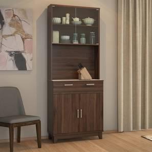 Alton 4 Door Tall Display Cabinet (Walnut Finish) by Urban Ladder - Cross View Design 1 - 237681